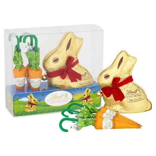 Lindt Gold Milk Chocolate Easter Bunny And Carrot 140g